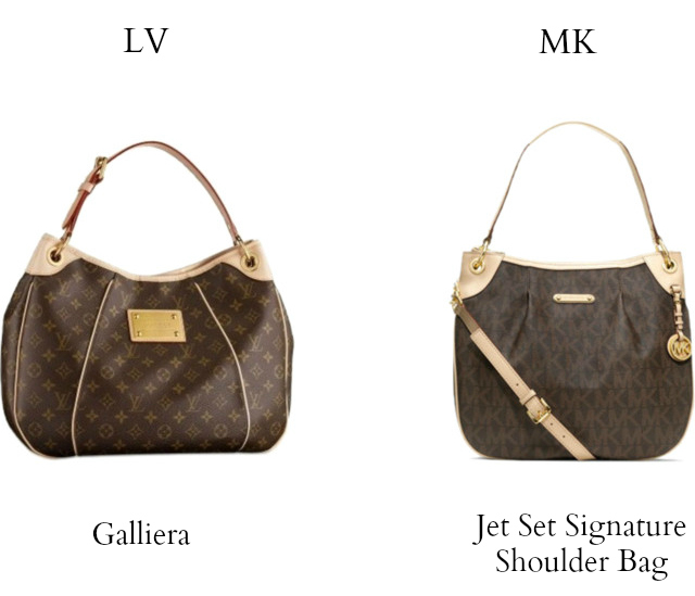 2c16f25f4f71 Louis Vuitton vs Michael Kors: louis vuitton galliera vs michael kors jet  set signature shoulder