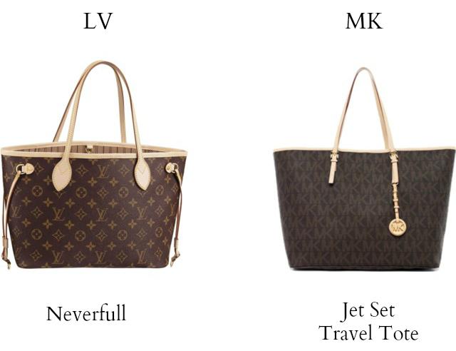 bc477631b7cd Louis Vuitton vs Michael Kors  louis vuitton neverfull vs michael kors jet  set travel tote