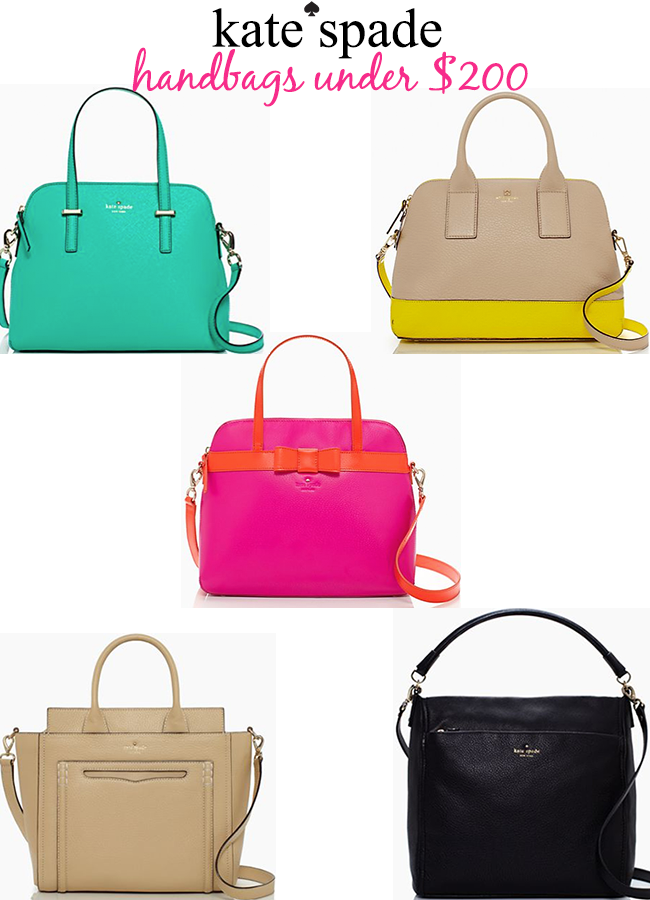 Kate Spade Handbags Under 200