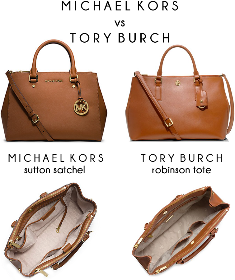Michael Kors Vs Tory Burch Bag Comparison