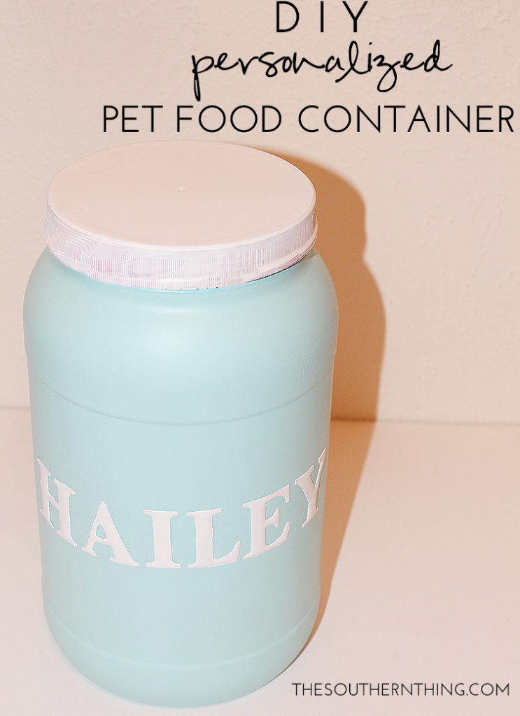 DIY Personalized Pet Food Container A Special Birthday Celebration