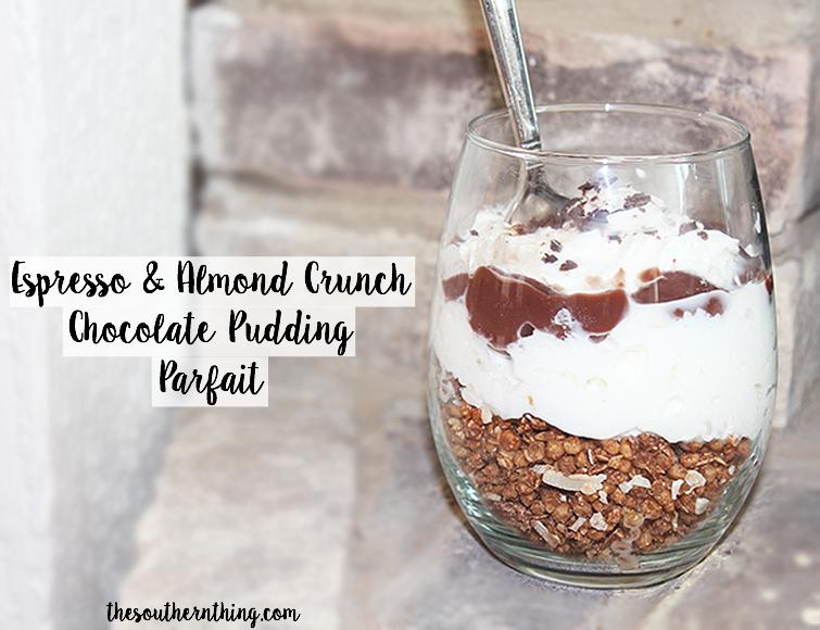 Espresso + Almond Crunch Chocolate Pudding Parfait