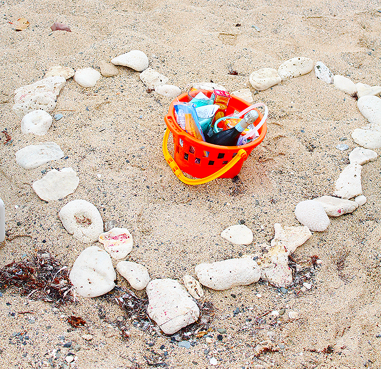 date on the beach