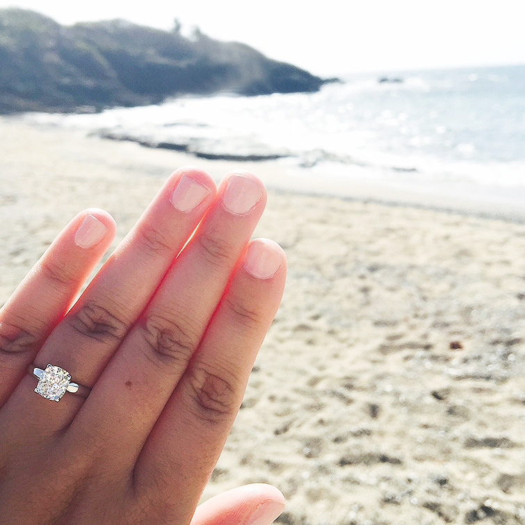 two carat solitaire engagement ring