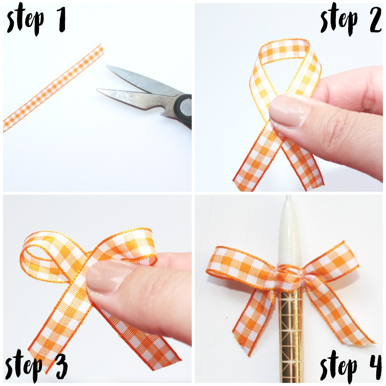 Hair band making with ribbon