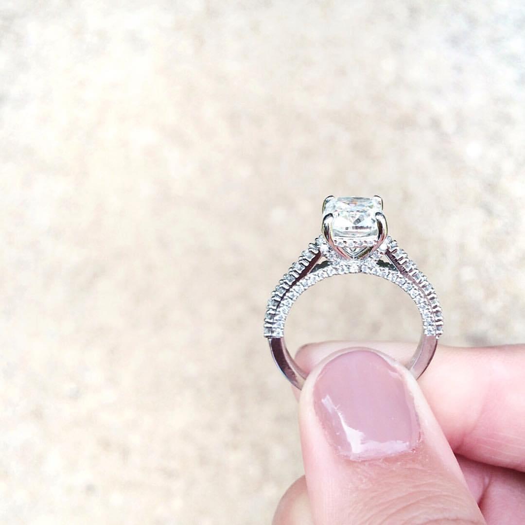 two carat engagement ring