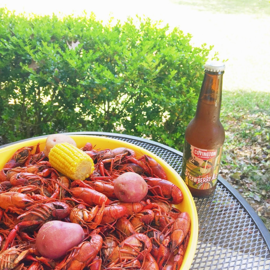 Louisiana boiled crawfish