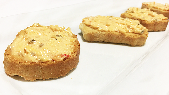 pimiento cheese on bagels
