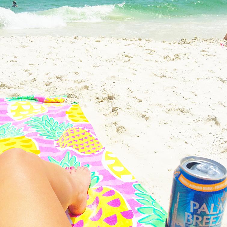 palm breeze on beach