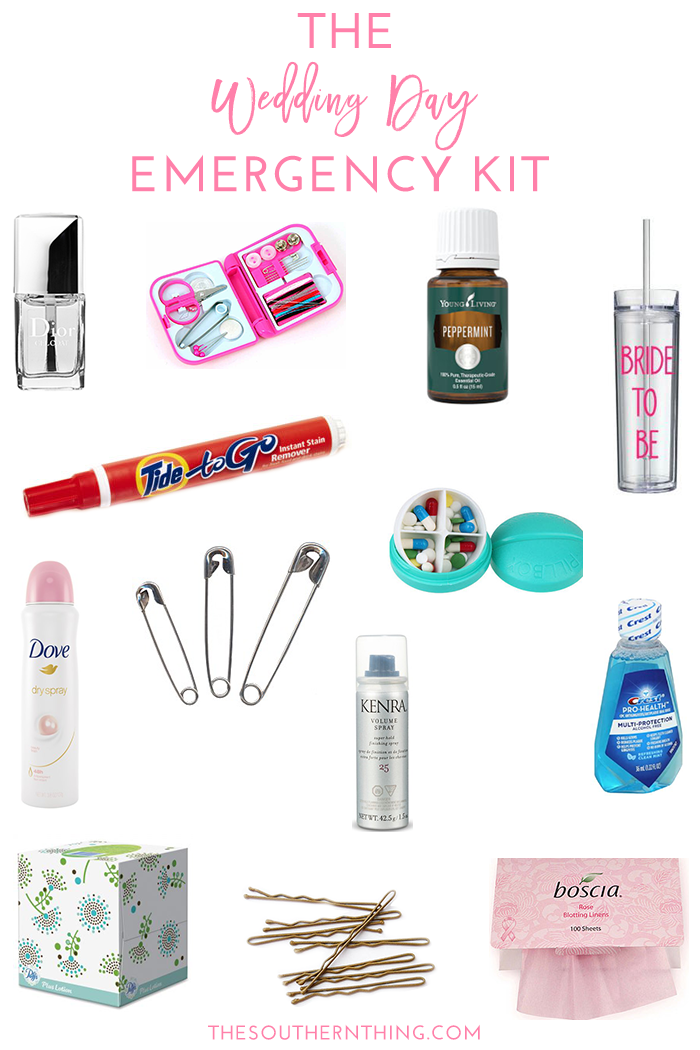 Wedding Day Kit | Diy Wedding Day Emergency Kit Every Bride Needs The Southern Thing