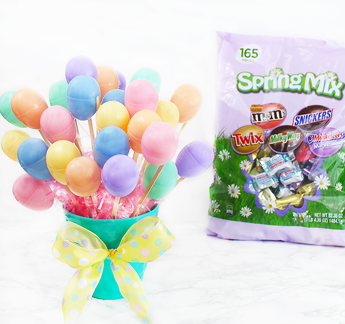 DIY Easter Egg Bouquet with Candy: Easter Egg Hunt Ideas