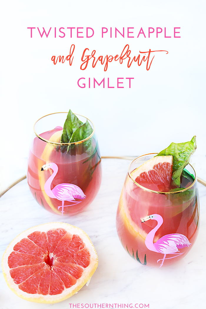 Twisted Pineapple Grapefruit Gimlet Recipe