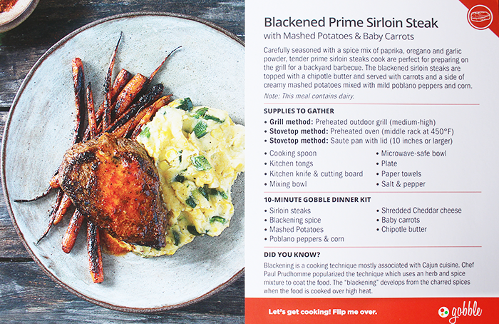 Blackened Prime Sirloin Steak Gobble Recipe