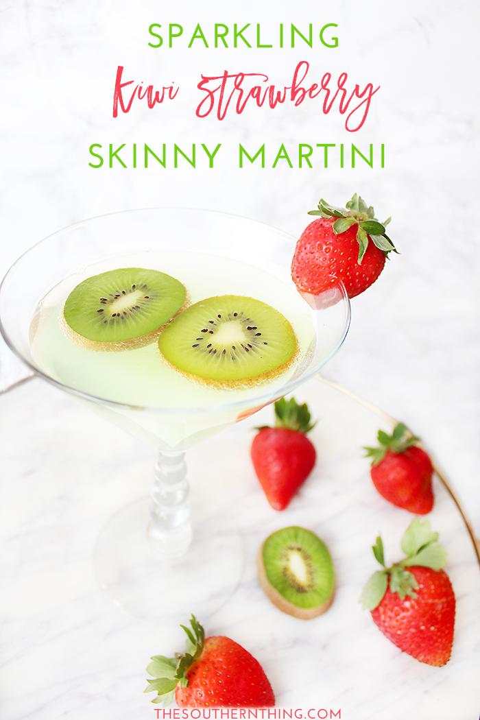 Sparkling Kiwi Strawberry Skinny Martini Recipe
