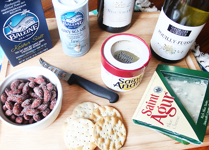 French Inspired Wine and Cheese Board | French Wine and Cheese Pairings | Saint Agur Cheese