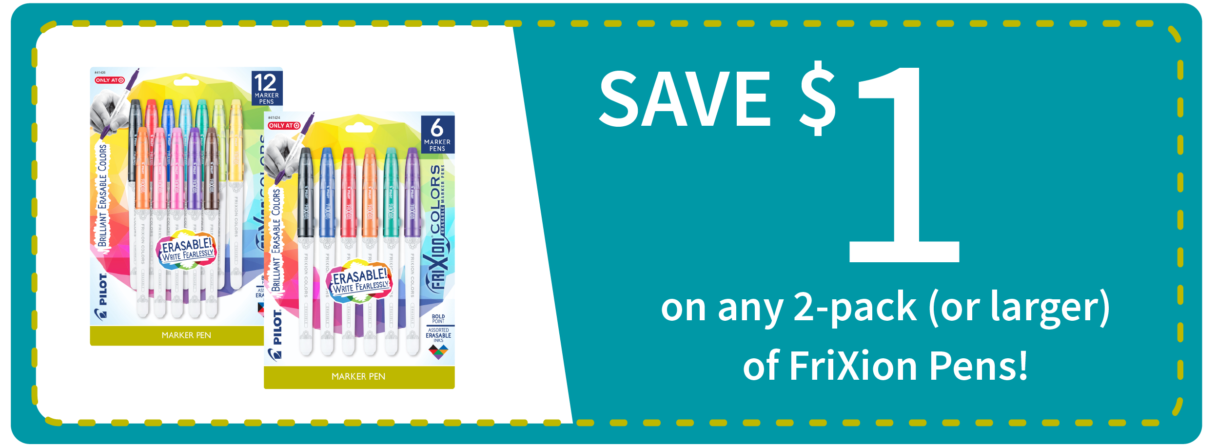 FriXion Colors Erasable Marker Pens Packs Coupon