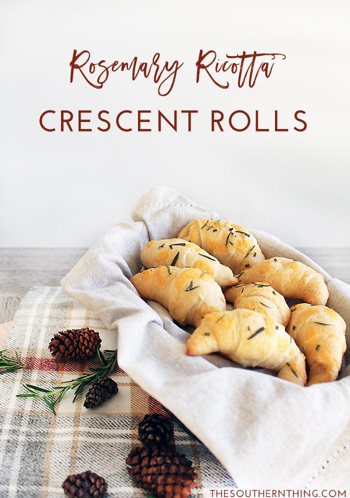 Rosemary Ricotta Crescent Rolls Side Bread Recipe | Pillsbury Crescent Rolls Recipes