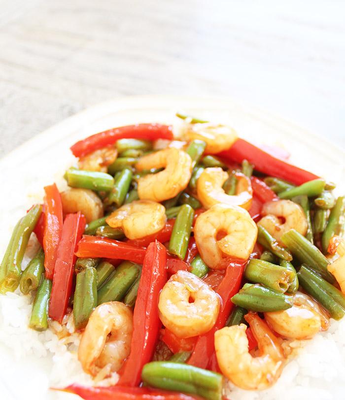Sesame Ginger Teriyaki Shrimp Stir Fry Recipe | Easy 15-Minute Meals