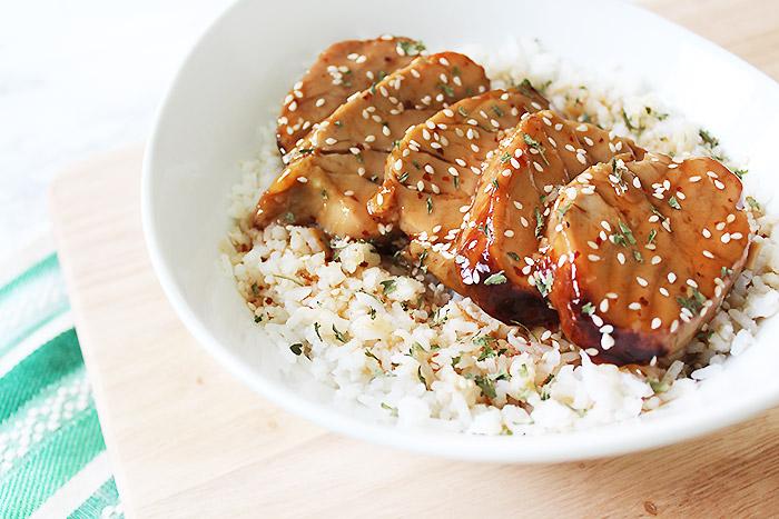 Honey Sesame Pork Tenderloin Rice Bowl Recipe   Easy & Healthy Weeknight Meals