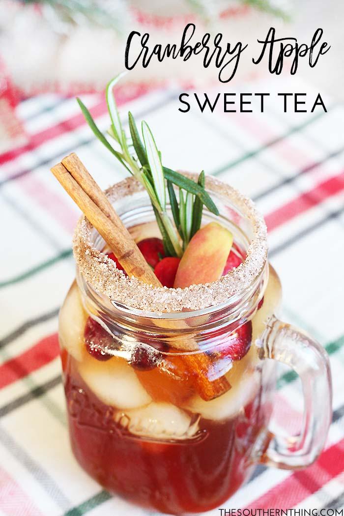 Cranberry Apple Sweet Tea