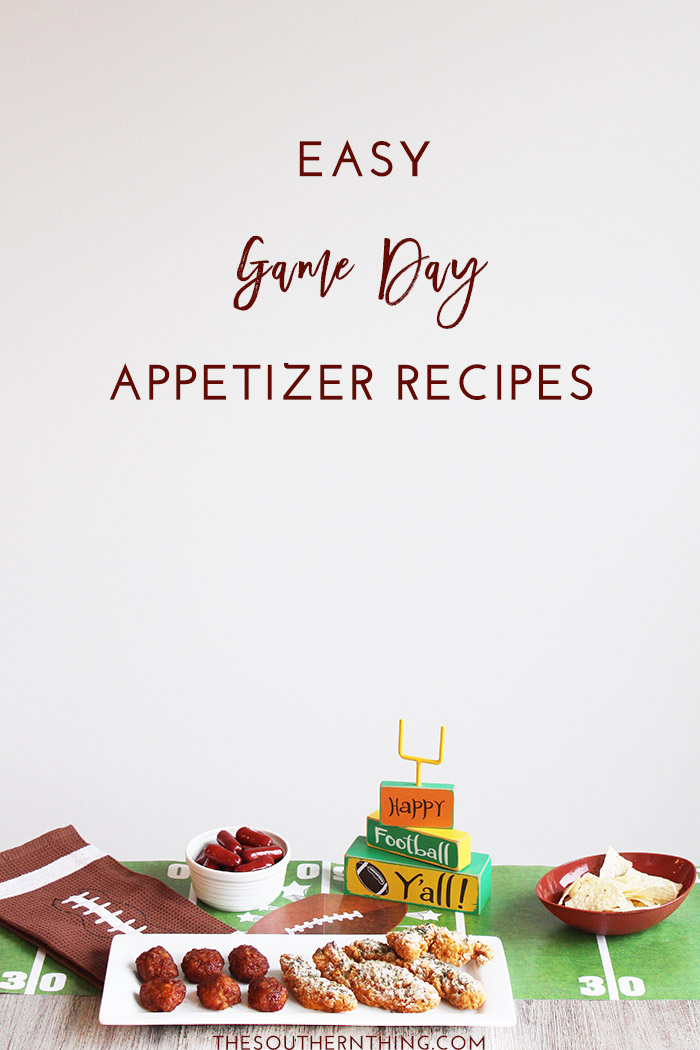 Easy Game Day Recipes: Easy Game Day Appetizers