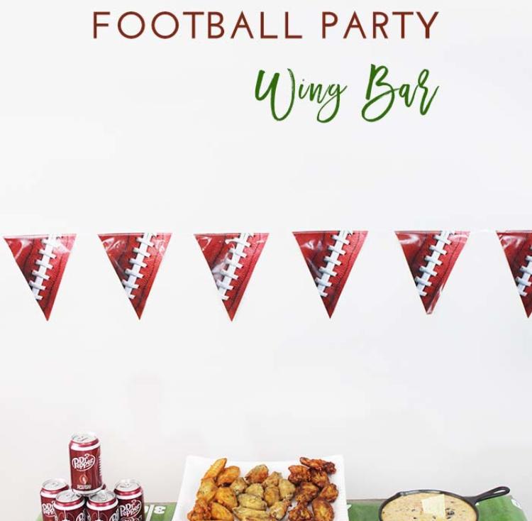 Homegating Football Party Wing Bar