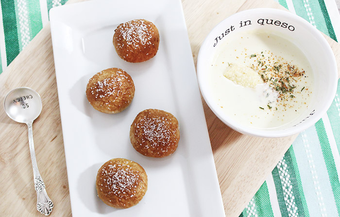 Restaurant Style White Queso Dip & Beer Cheese Pretzels