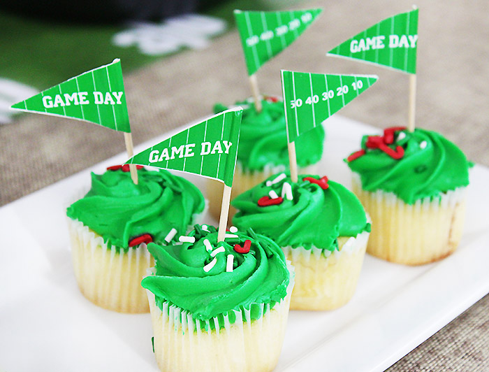 Superbowl Party Cupcakes