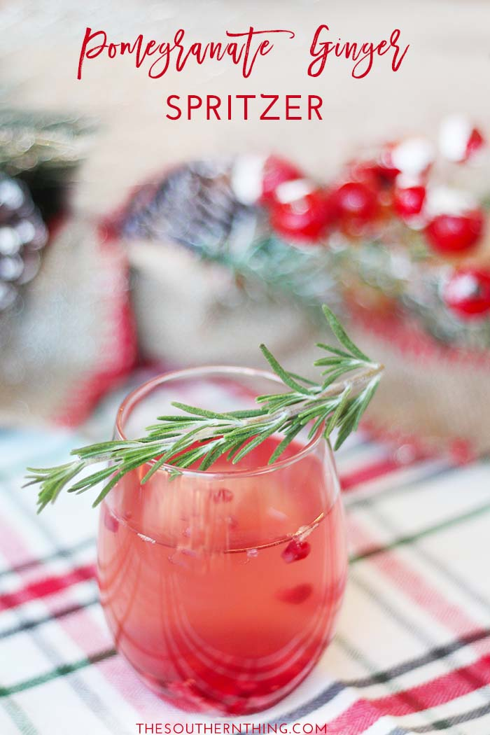 Pomegranate Ginger Spritzer Wine Cocktail Recipe